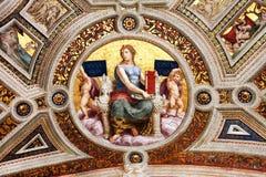 Fresco av Raphael, stanza 1 royaltyfri bild