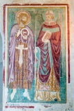Fresco in Baptistry of Basilica di Aquileia Stock Photos