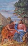 Fresco in the basilica of Saint Andrew in Mantua, Italy.  Stock Image