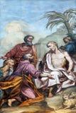 Fresco in the basilica of Saint Andrew in Mantua, Italy.  Royalty Free Stock Photo
