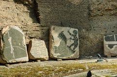 Fresco in Baths of Caracalla royalty free stock photos