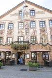Fresco on Bavarian Restaurant Royalty Free Stock Photos