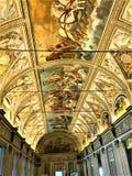 Fresco, beleza e história em Palazzo Ducale, cidade de Mantova, Itália fotos de stock royalty free
