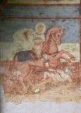Fresco at big church, Moraсa Monastery, Montenegro royalty free stock photos