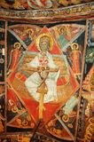 Fresco in bulgarian monastery Royalty Free Stock Photography