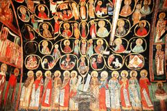 Fresco in bulgarian monastery Stock Photos