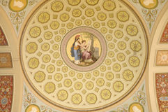 Fresco on a ceiling Royalty Free Stock Photography
