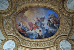 Fresco on Ceiling, Louvre Stock Photography