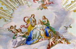 Fresco on the ceiling of  Palace Stock Image