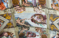 Fresco on the ceiling in the Vatican Museums Royalty Free Stock Photography