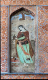 Fresco of Chehel Sotun Palace Stock Image