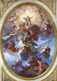 Fresco in the Church of Holy Martyrs Solutor, Adventor and Octavius Royalty Free Stock Photo