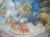 Fresco of the church of St. Nicholas, Demre. St. Nicholas Church, Demre is an ancient Byzantine Church located in modern-day town of Demre Antalya Province, ( Royalty Free Stock Photos