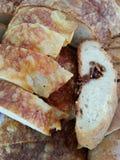 Fresco cocido criado con queso y el jamón Imagenes de archivo