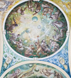 Fresco in the colonnade in Marianske Lazne Royalty Free Stock Photography