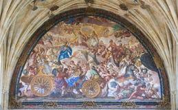 Fresco in the Convento de San Esteban in Salamanca, Spain Royalty Free Stock Photography
