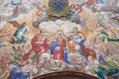 Fresco of the Coronation of Mary in the Convento de San Esteban, Royalty Free Stock Photography