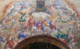 Fresco of the Coronation of Mary in the Convento de San Esteban, Stock Photos