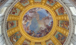 Fresco of the cupola in the Dome des Invalides. Royalty Free Stock Photography