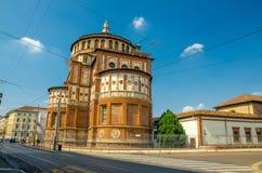 Fresco da última ceia da igreja de Grazie do delle de Santa Maria, Milão, Itália fotografia de stock