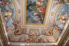 Fresco da arte na galeria Borghese foto de stock