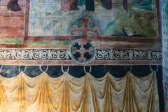 Fresco da capela da trindade santamente em Lublin, Polônia, detalhe imagens de stock royalty free