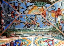 Fresco da igreja ortodoxa Monastério de Rila, Bulgária Imagens de Stock