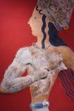 Fresco de Grecia Heraklión Knossos Foto de archivo