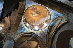 Fresco de Jesús en la iglesia Imágenes de archivo libres de regalías