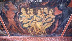 Fresco de la escena de las mujeres de los diablos del infierno Imagenes de archivo