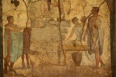 Fresco de Pompeii Fotos de Stock