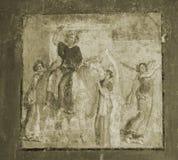Fresco de Pompeii no Sepia fotos de stock
