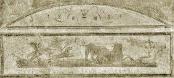 Fresco de Pompeii no Sepia foto de stock royalty free