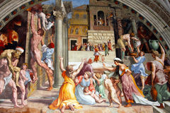 Fresco de Raphael em Vatican fotos de stock royalty free