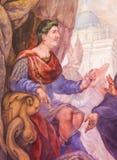 Fresco de Roman Emperor na igreja de São Nicolau, Valência Imagem de Stock