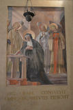 Fresco de Saint Benedict Imagens de Stock Royalty Free