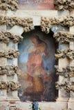 Fresco del lugar en el Alcazar real de Sevilla Foto de archivo