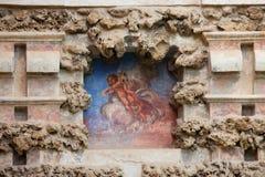 Fresco del lugar en el Alcazar real de Sevilla Fotos de archivo