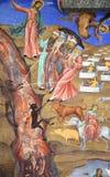 Fresco del monasterio de Moses Imagen de archivo libre de regalías