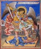 Fresco del monasterio de Rila en Bulgaria imágenes de archivo libres de regalías