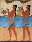 Fresco del portador de la taza de Knossos imagen de archivo