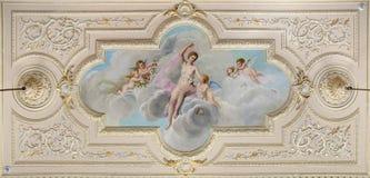 Fresco del techo Imagen de archivo libre de regalías