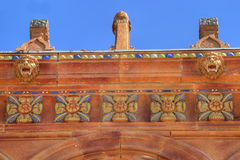 Fresco Detail on Ringling Mansion Royalty Free Stock Photography
