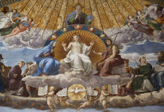 Fresco Disputation of the Holy Sacrament Stock Image