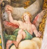 Fresco do anjo na igreja de São Nicolau, Valência Foto de Stock