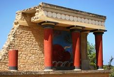 Fresco do touro de Knossos Fotos de Stock
