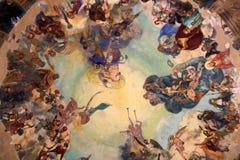 The fresco dome of the Music Kiosk, Rapallo Royalty Free Stock Photography