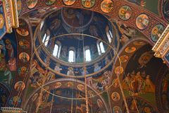 Fresco dome at Orthodox church in Kragujevac Stock Images
