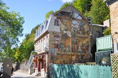 Fresque du Petit Champlain, Quebec City, Canada Royalty Free Stock Images