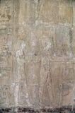 Fresco egipcio de la pared del templo Fotos de archivo libres de regalías